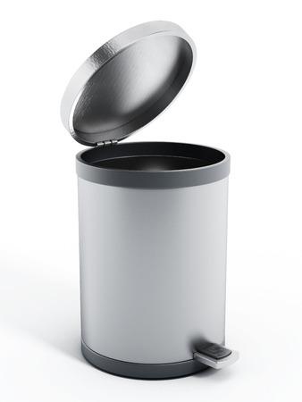 Trash bin isolated on white background