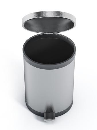 Trash bin isolated on white background Stock Photo - 47183267