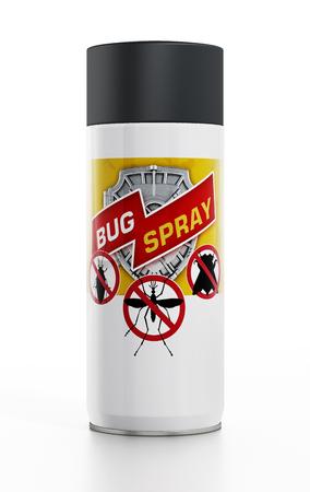 pulverizador: repelente de insectos aislado en el fondo blanco Foto de archivo