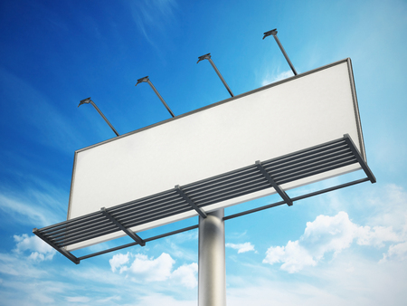 advertising signs: Blank billboard at the sky.