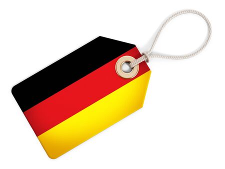german: German flag on isolated tag.