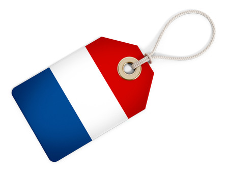 price tag: France flag on isolated tag.