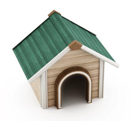 doghouse: Doghouse isolated on white background Stock Photo