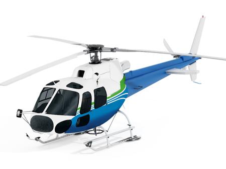 ヘリコプターは、白い背景で隔離。 写真素材