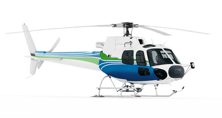 helicopter rescue: Helicopter isolated on white background.