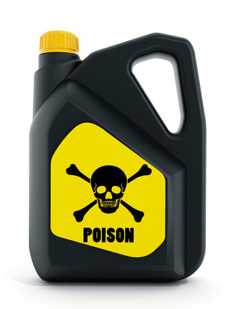 poison sign: Poison plastic bottle isolated on white background