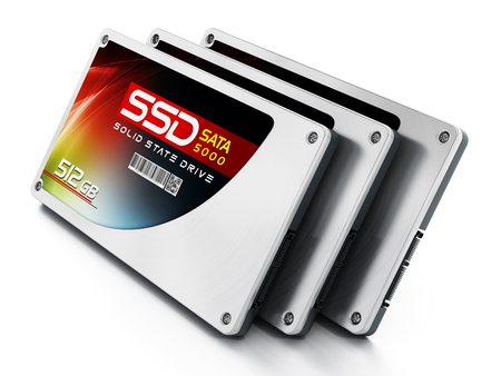 ssd: SSD Solid state drives isolated on white background.
