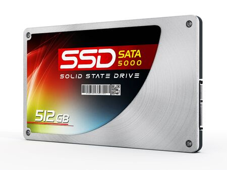 information equipment: SSD Solid state drives isolated on white background.