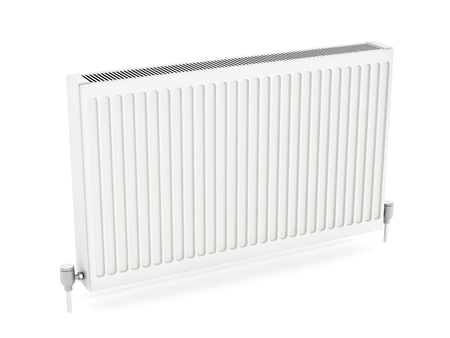 domestic room: Radiator isolated on white background. 3D illustration.