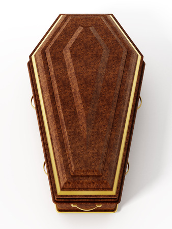 coffins: Coffin isolated on white background. 3D illustration.
