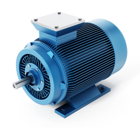 motors: Generic electric motor isolated on white background. 3D illustration.