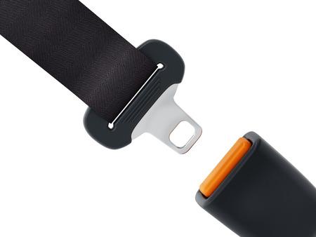 Sicherheitsgurt lokalisiert auf weißem Hintergrund. 3D-Darstellung. Standard-Bild - 73767251
