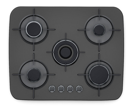 Modern stove isolated on white background. 3D illustration.