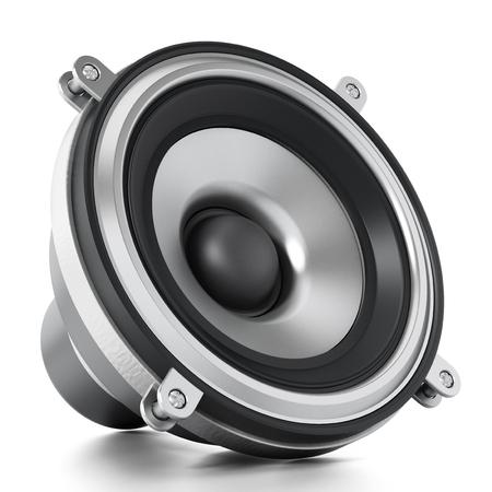 Generic audio speaker isolated on white background. 3D illustration. Stock Photo
