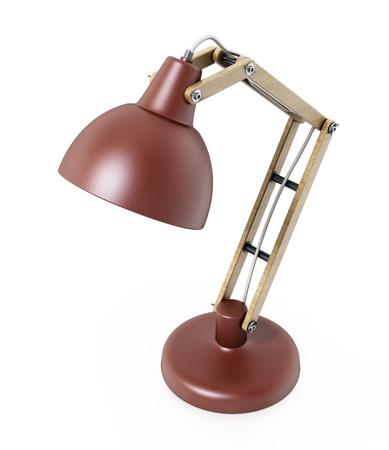 Desk lamp isolated on white background. 3D illustration.