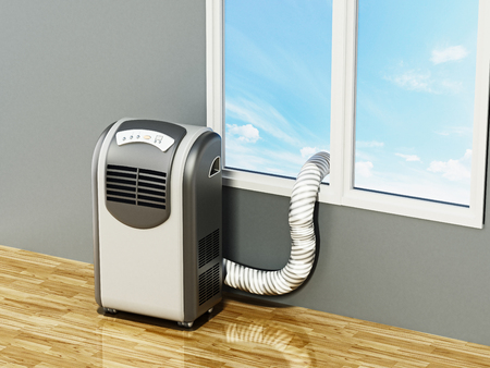 Generic illustration of mobile air conditioner. 3D illustration.
