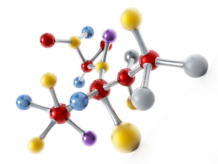 Molecular structure isolated on white structure. 3D illustration.