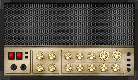 Generic vintage feel guitar amplifier. 3D illustration.