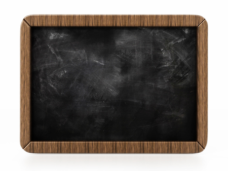 Toy blackboard isolated on white background. 3D illustration.