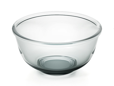 Glass bowl isolated on white background. 3D illustration. Stock Photo