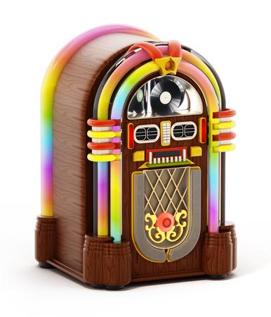 Jukebox isolated on white background. 3D illustration.