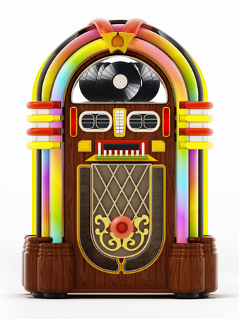 Jukebox isolated on white background. 3D illustration. Banque d'images - 120535949