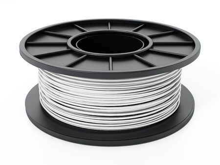 Generic new 3D filament isolated on white background. 3D illustration.