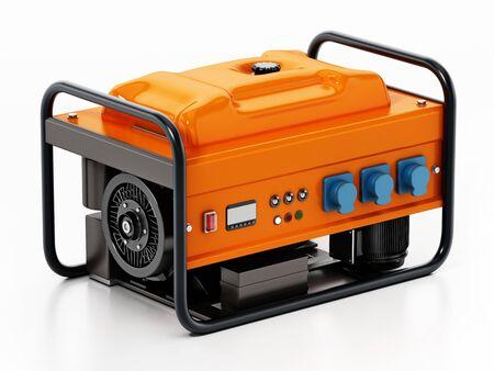 Generatore isolato su sfondo bianco. illustrazione 3D. Archivio Fotografico