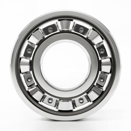Wheel bearing isolated on white background. 3D illustration. Banque d'images