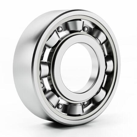 Wheel bearing isolated on white background. 3D illustration.