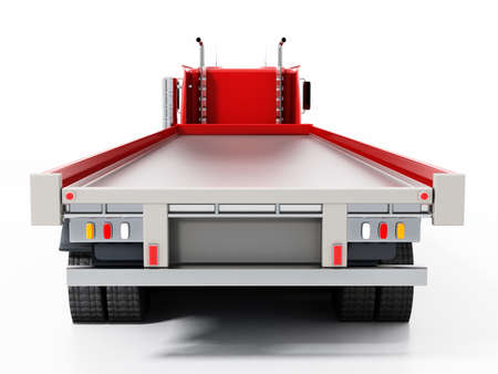 Empty truck haulage ready for loading. 3D illustration. Reklamní fotografie
