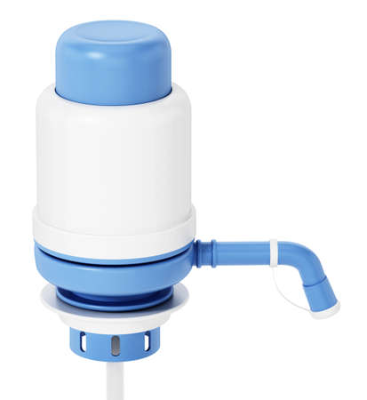 Generic water container pump isolated on white background. 3D illustration.