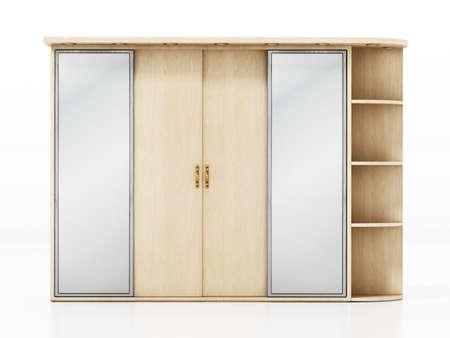 House entryway closet isolated on white background. 3D illustration. Stockfoto