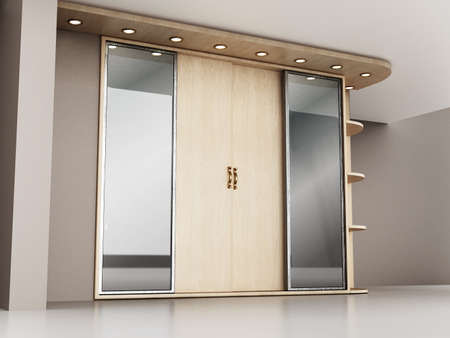 House entryway closet in the house. 3D illustration. Stockfoto