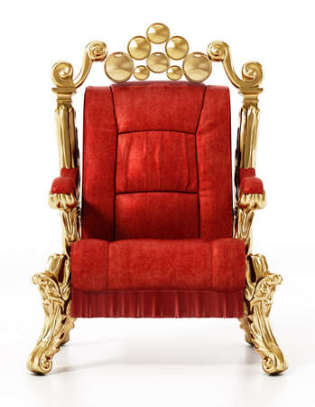 Generic throne isolated on white background. 3D illustration.