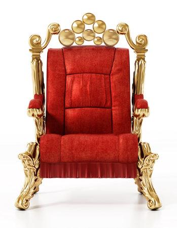 Generic throne isolated on white background. 3D illustration. 版權商用圖片 - 160747887