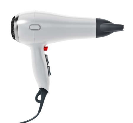 Professional hair dryer isolated on white background .. 3D illustration. 版權商用圖片 - 160915466