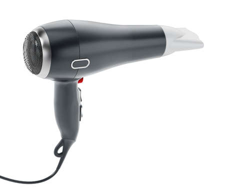 Professional hair dryer isolated on white background .. 3D illustration.