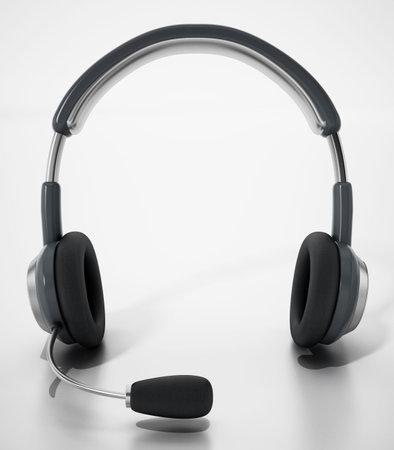 Generic headset isolated on white background. 3D illustration. 版權商用圖片