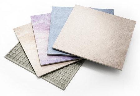 Bathroom tiles isolated on white background. 3D illustration. 版權商用圖片