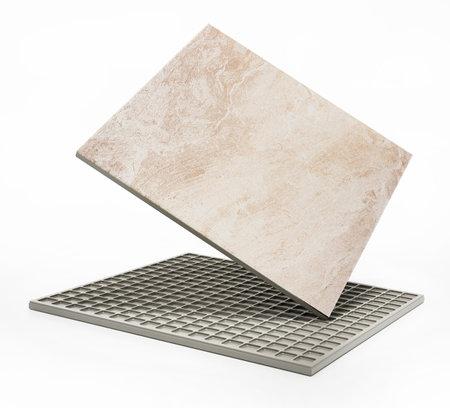 Bathroom tile isolated on white background. 3D illustration. 版權商用圖片 - 161138628