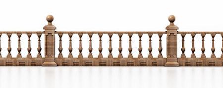 Balcony railing isolated on white 版權商用圖片 - 161284042
