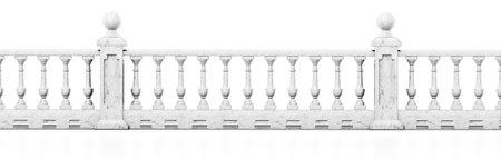 Balcony railing isolated on white 版權商用圖片