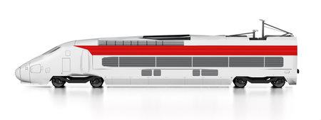 Electric train isolated on white 版權商用圖片 - 161284044
