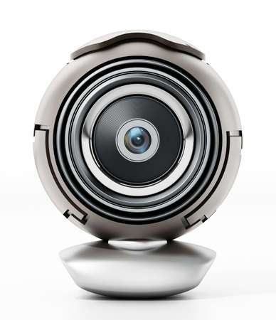 Generic computer webcam isolated on white background. 3D illustration.