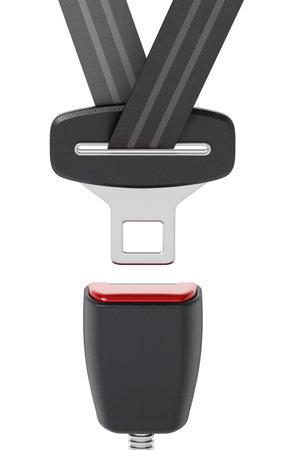 Seatbelt isolated on white background. 3D illustration.