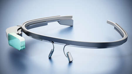 Generic wearable augmented reality smart glasses. 3D illustration.