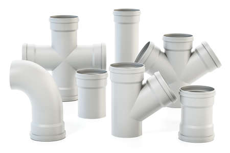 Set of PVC water pipes