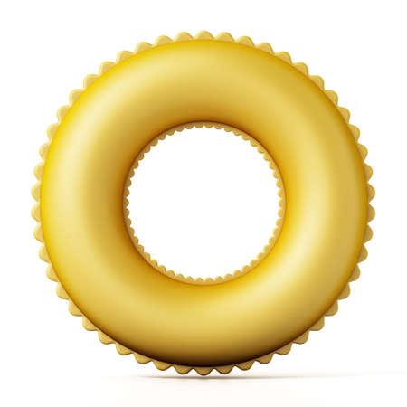Life buoy isolated on white background. 3D illustration.