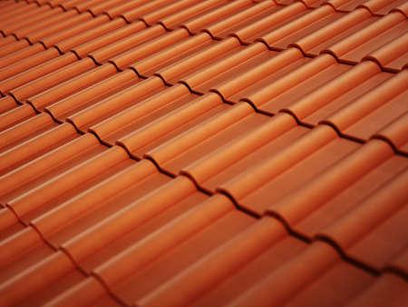 Roof tiles background. 3D illustration. 版權商用圖片